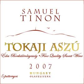 Samuel Tinon Tokaji Aszú